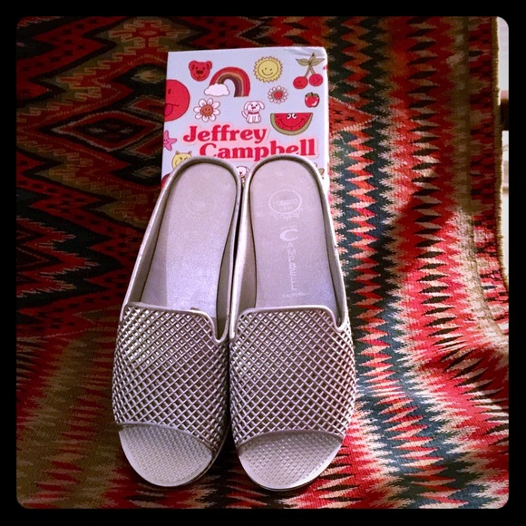 Jeffrey Campbell Shoes - 🎉NIB JEFFREY CAMPBELL SILVER FLING 2 WEDGE 🎉